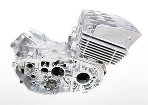 ウェットブラスト加工 エンジン塗装参考例