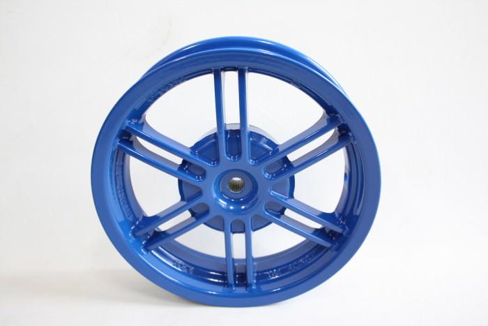 バイク純正ホイール塗装:パウダーコート(指定ブルー)