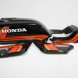 ホンダCB900F外装塗装:ブラックスペンサーカラー塗装