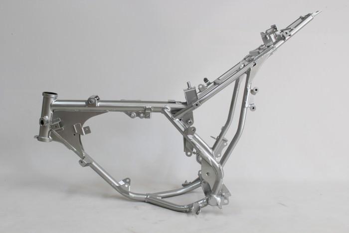 カワサキKSR-2フレーム塗装:ダイヤモンドコーティング