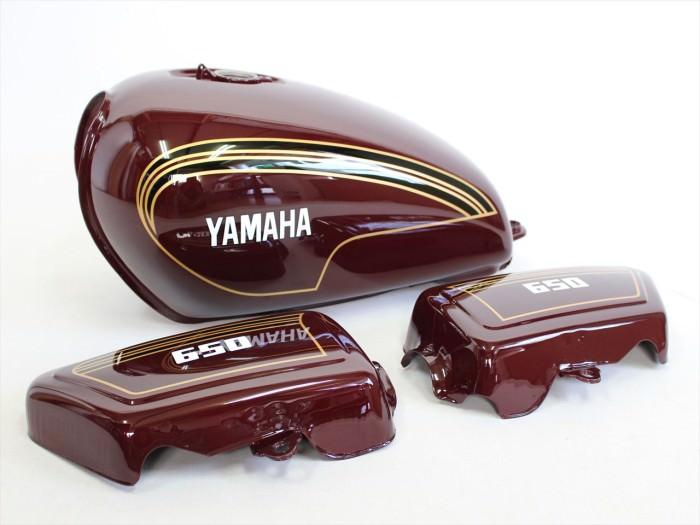 ヤマハTX650外装塗装:純正再現塗装