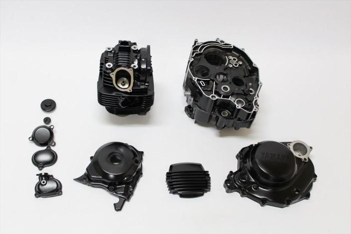 ヤマハBW200エンジン塗装:エンジン専用耐熱塗装ST9000