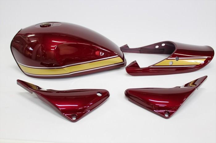 カワサキゼファー1100外装塗装:3コートキャンディー塗装