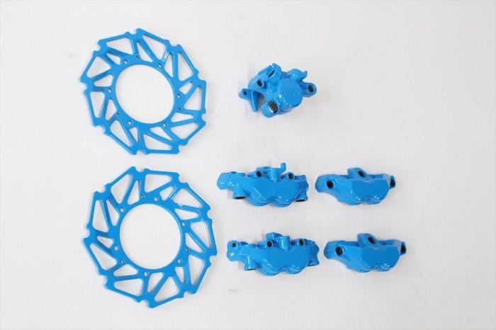 ホンダCBR1000RRキャリパー等塗装:ダイヤモンドコーティング