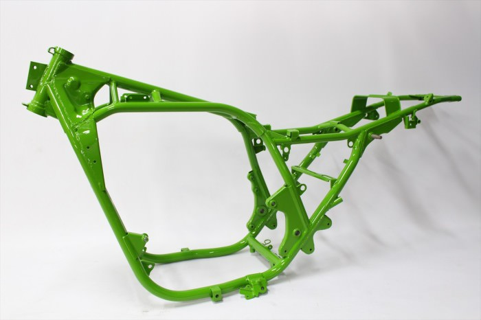 カワサキZ1100Rフレーム塗装:ダイヤモンドコーティング指定グリーン