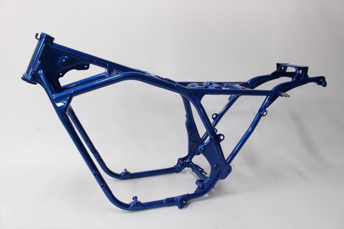 ホンダCB750Fフレーム塗装:ダイヤモンドコーティング指定ブルーパール