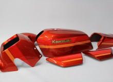 カワサキZ1100R外装塗装:カスタムペイント