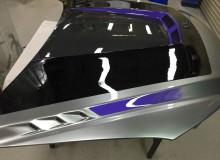 マツダCX-5用ボンネット塗装:カスタムペイント
