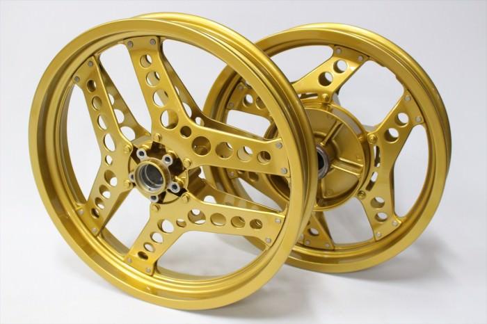 ホンダCB1100Fホイール塗装:ダイヤモンドコーティング(アルマイト調ゴールド)