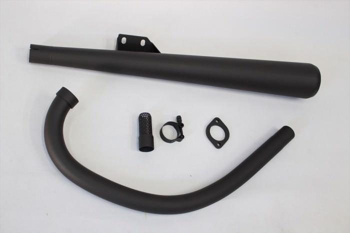 単気筒マフラー塗装:耐熱650度塗装