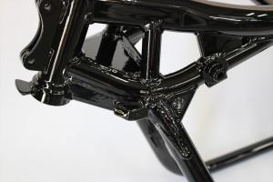 ZRX1200フレーム塗装 パウダーコート 粉体塗装