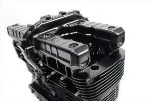 ゼファー1100エンジン塗装 耐熱塗装ST9000