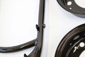 バンバン90フレーム塗装 ダイヤモンドコーティング