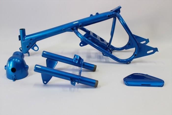 モンキーフレーム塗装:ダイヤモンドコーティング指定ブルー