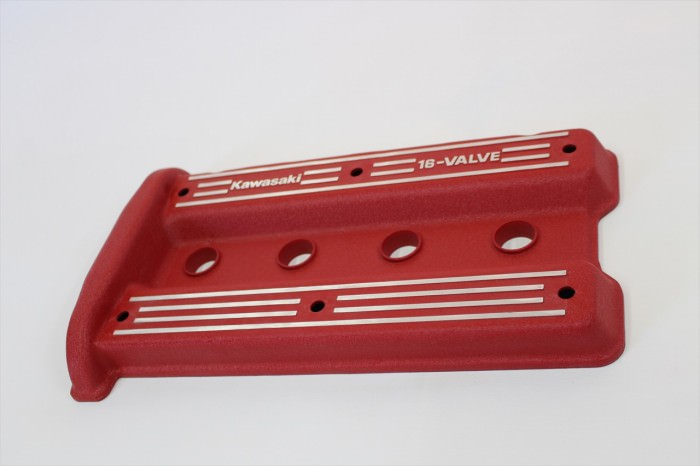 カワサキGPZ900Rヘッドカバー塗装:縮み塗装