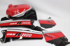 GSX-R1100外装塗装:レプリカ再現塗装